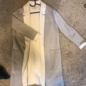 Blazer style longline cardigan